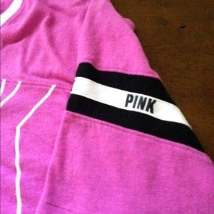 """PINK"" V Neck Campus Tee"