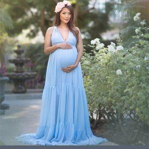 Dresses & Skirts - Maternity Blue dress