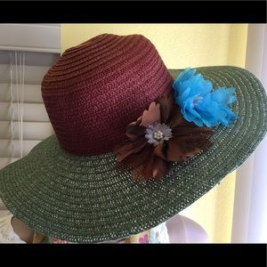 Accessories - NEW-Colorful Straw Hat Unique