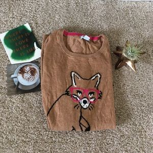 Old Navy Sweaters - B2G1Free 🔥 Old Navy Fox with Glasses Sweater, M