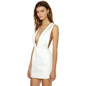 Nasty Gal White Criss Cross Dress
