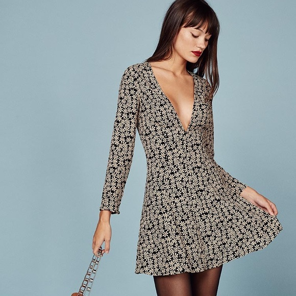 de1161d06b Reformation  Calvin  Daisy Print Mini Dress