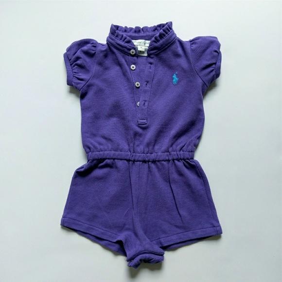 0e0a5e5ab Ralph Lauren baby girl purple romper