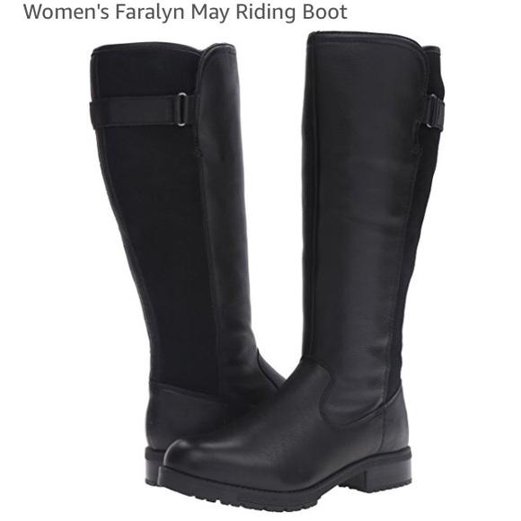 33bd576a3b7 Clarks Faralyn May Sz 12 leather waterproof boots