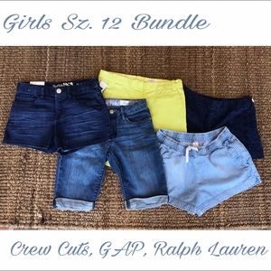 Awesome Girls Sz. 12 BUNDLE of 5 Shorts