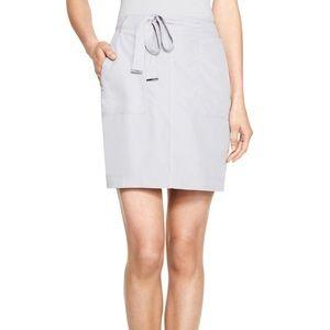 White House Black Market Gray Belted Skirt