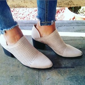//The London// Stone cutout ankle booties