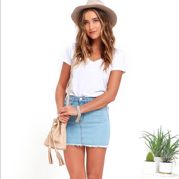 570cd8fed6 Lulu's Skirts | Brand New Jean Skirt | Poshmark