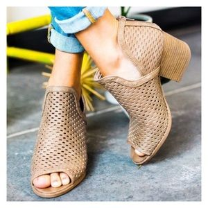 Shoes - Jet Setter - Vegan Suede Ankle Bootie