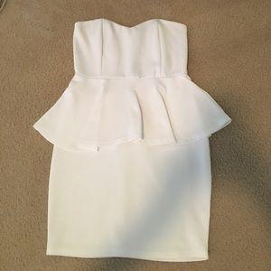 Tobi white peplum dress