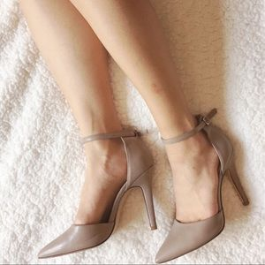 Ankle Strap Heel with Pointed Toe