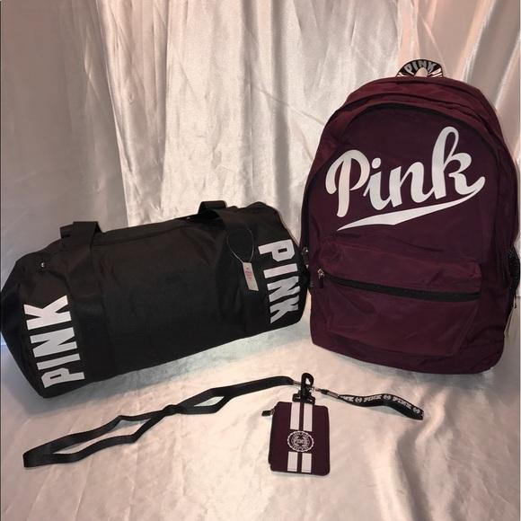 959db739fee8 Vs Pink Campus Backpack Duffle Bag Lanyard Set