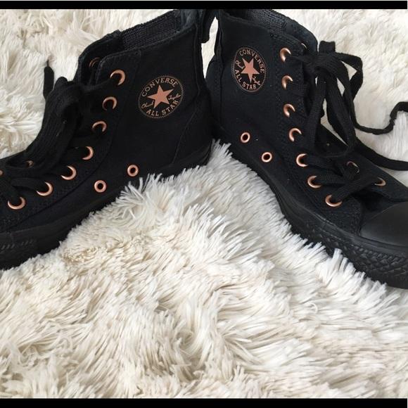 49 off converse shoes black rose gold chuck taylor. Black Bedroom Furniture Sets. Home Design Ideas