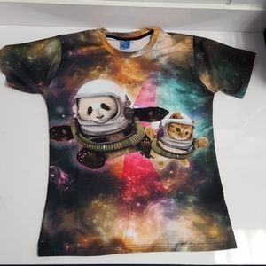 Other - 🐼😸👕 NEW 🔥 PANDA & CAT in Space Men's T-Shirt