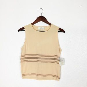 NWT Fairway & Greene Striped Golf Vest Tank