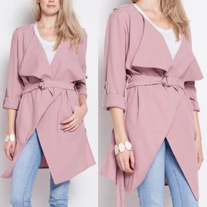 LUPE Light Trench Coat - DEEP BLUSH