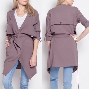 LUPE Light Trench Coat - PLUM