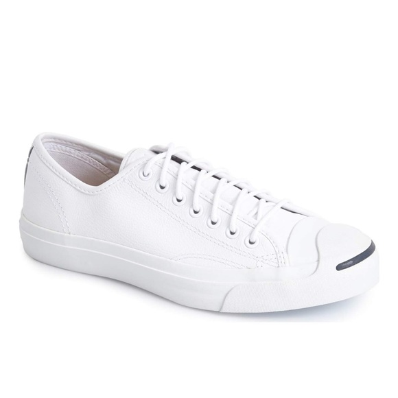 converse white leather tennis shoes