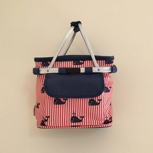 Handbags - Domain red white and blue striped cooler