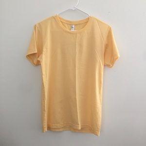 Brand new American Apparel Yellow Tee Shirt