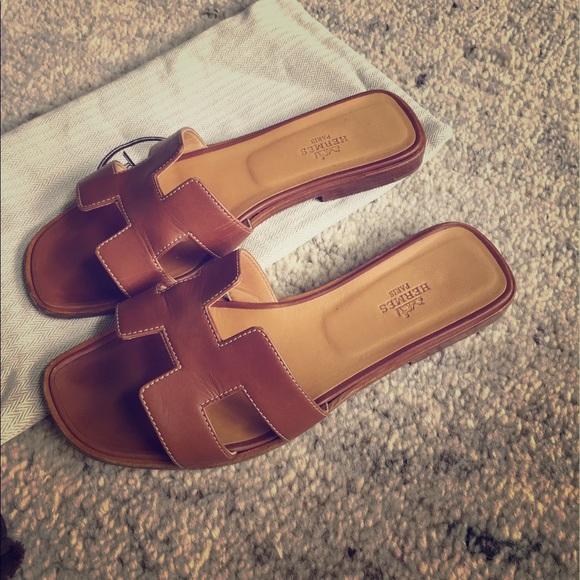 ab0e7d2455cb81 Hermes Shoes - Authentic Hermes Oran sandals 37