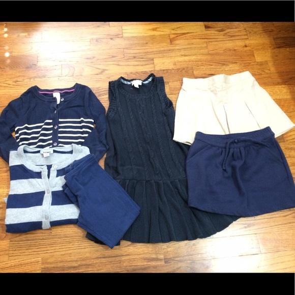 Gymboree Navy Skirt Pleated Uniform Knit Nwt Girls Size 4