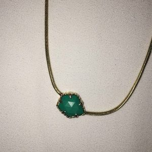 Kendra Scott Mara necklace in turquoise/green