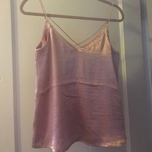 h&m shimmery blush cami - size 6