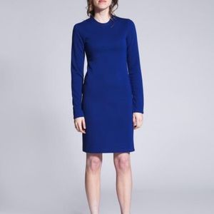 west 56 cobalt blue thermal dress - size small