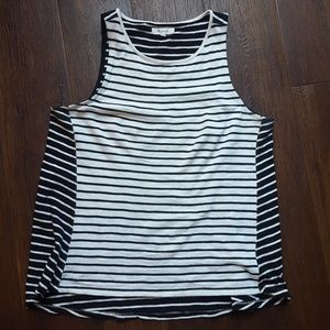 Final! Madewell striped hi low tank top