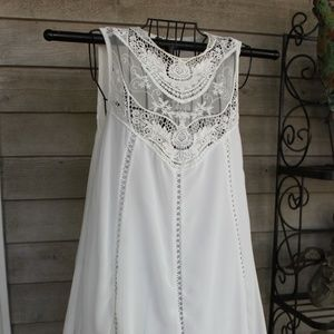 white lace embroidery dress