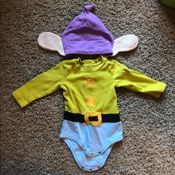 2b1bfe494 Disney Costumes   Hp Dopey Infant Onesie   Poshmark