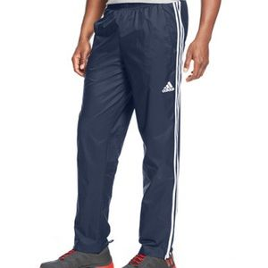 Mens Adidas woven track pants navy white L XL XXL