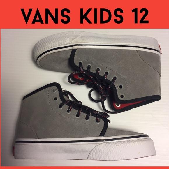 41d11ceb72 VANS Kids NWOT 12 youth gray suede hightop sneaker