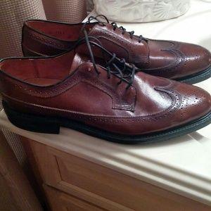 51f0dfad2d1e JC Penney Shoes - JC Penney Sanitized Brown Wingtip Shoes 12D
