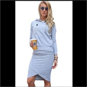 Dresses & Skirts - Sporty Hoodie-Pencil Skirt Set