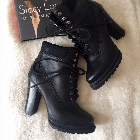 BCBGeneration Shoes - Leather Lace-Up Booties