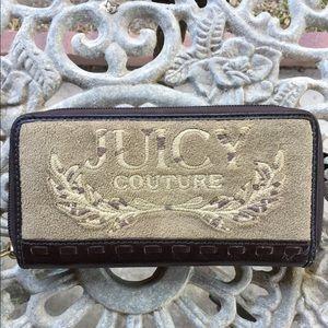 Juicy Couture Brown Velvet Wallet