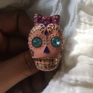 Betsey Johnson Sugar Skull Ring!