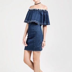 Just One Answer Dresses - JOA Off The Shoulder Dress