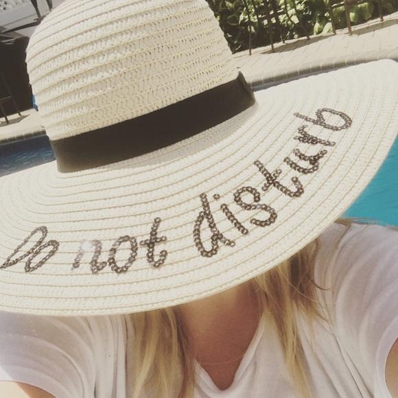 dc73571e Accessories | Do Not Disturb Black Sequin Embroidered Sun Hat | Poshmark