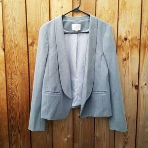 LOFT Grey Open Blazer