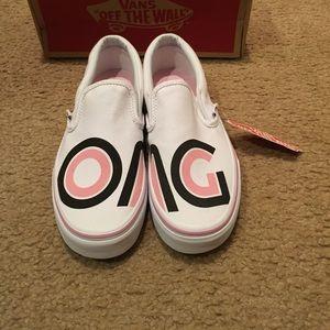"""Vans """"Sayings"""" Classic Slip on Sneakers"""