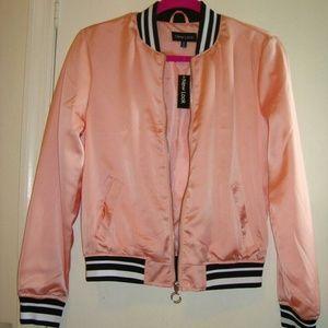 Baby Pink Bomber Style Jacket