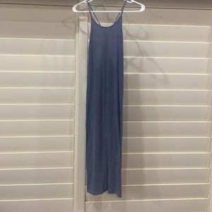 Victoria's Secret VS Slate Ribbed Nightgown Sz L
