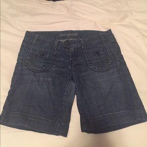 American Eagle midi denim shorts