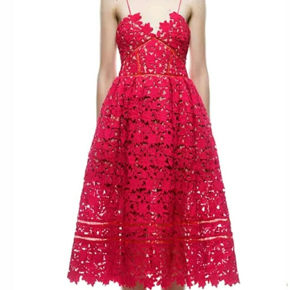 c1e942f0985ae Authentic Self Portrait Red Azaelea Dress