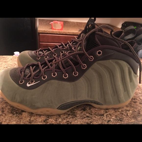 3c75fd82c757e Nike Air Foamposite One PRM - Suede Olive Green. M 595ef9f32de512faee010041