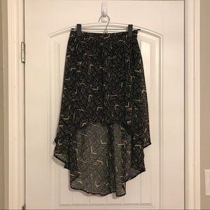 🔥Bundle Sale🔥Black/Tan High Low Skirt