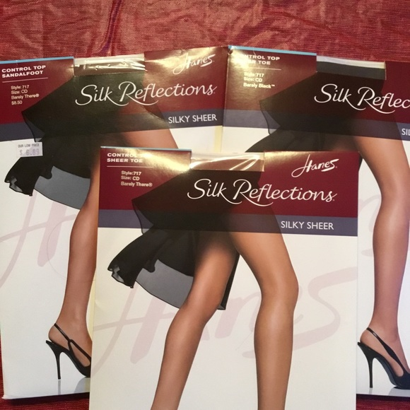 a8afd5f1d4e 3 pair Hanes Silky Reflections Pantyhose